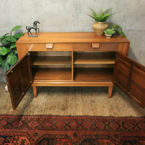 Small Mid Century Walnut Sideboard - 0707d
