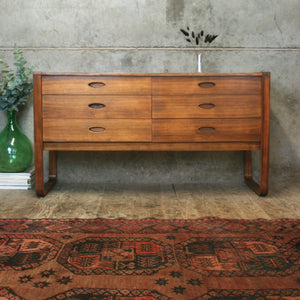 Rare Walnut Uniflex Sideboard / Drawers – 1401g