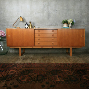 Large Clausen & Son Danish Teak Sideboard / Media Cabinet