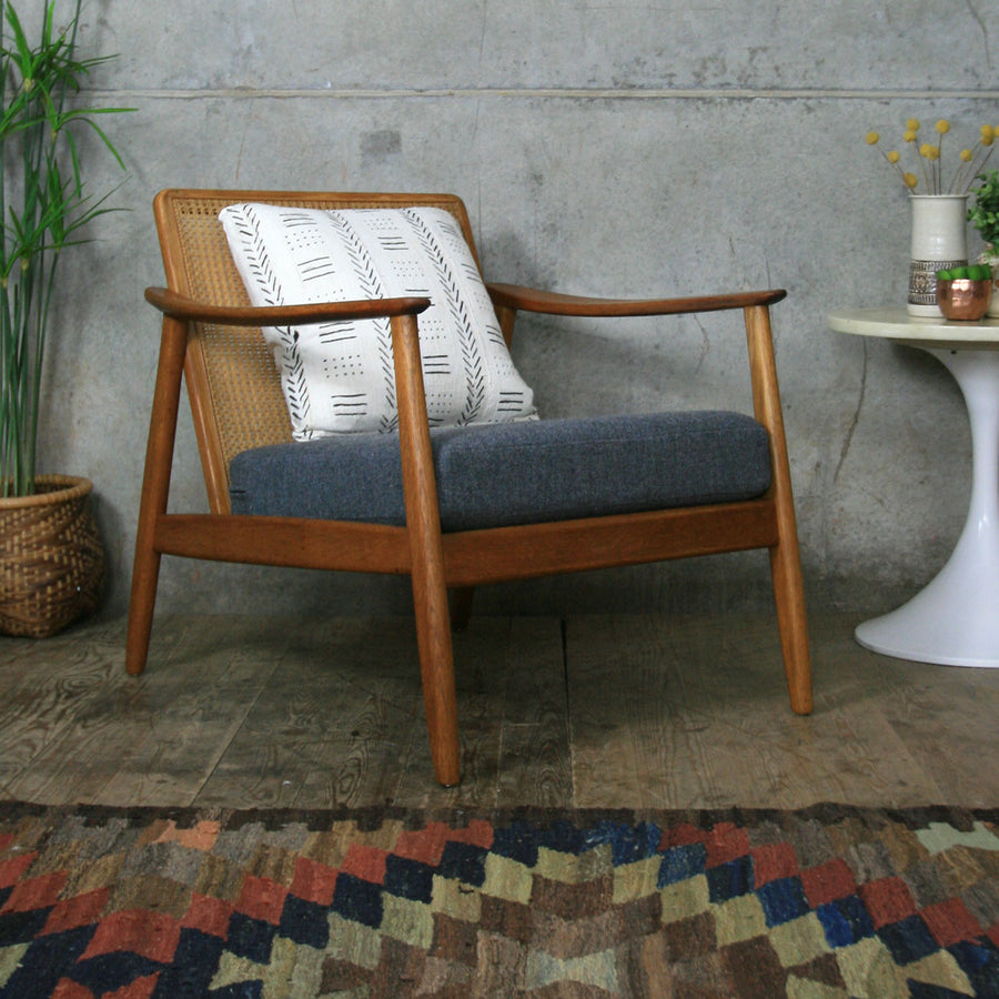 Vintage Swedish Teak Armchair by Folke Ohlsson for Dux