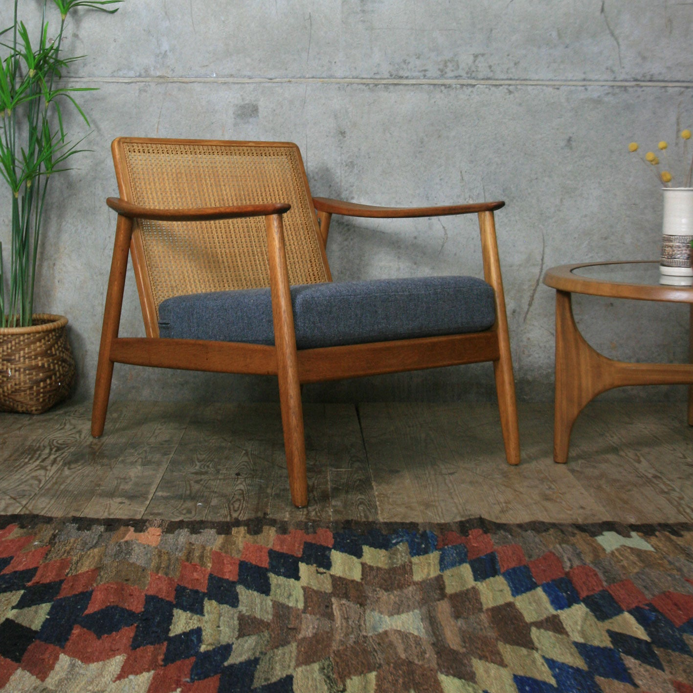 Vintage Swedish Teak Armchair by Folke Ohlsson for Dux ...