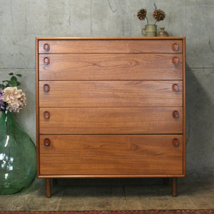 Mid Century Meredew Teak Chest of Drawers – 2604g