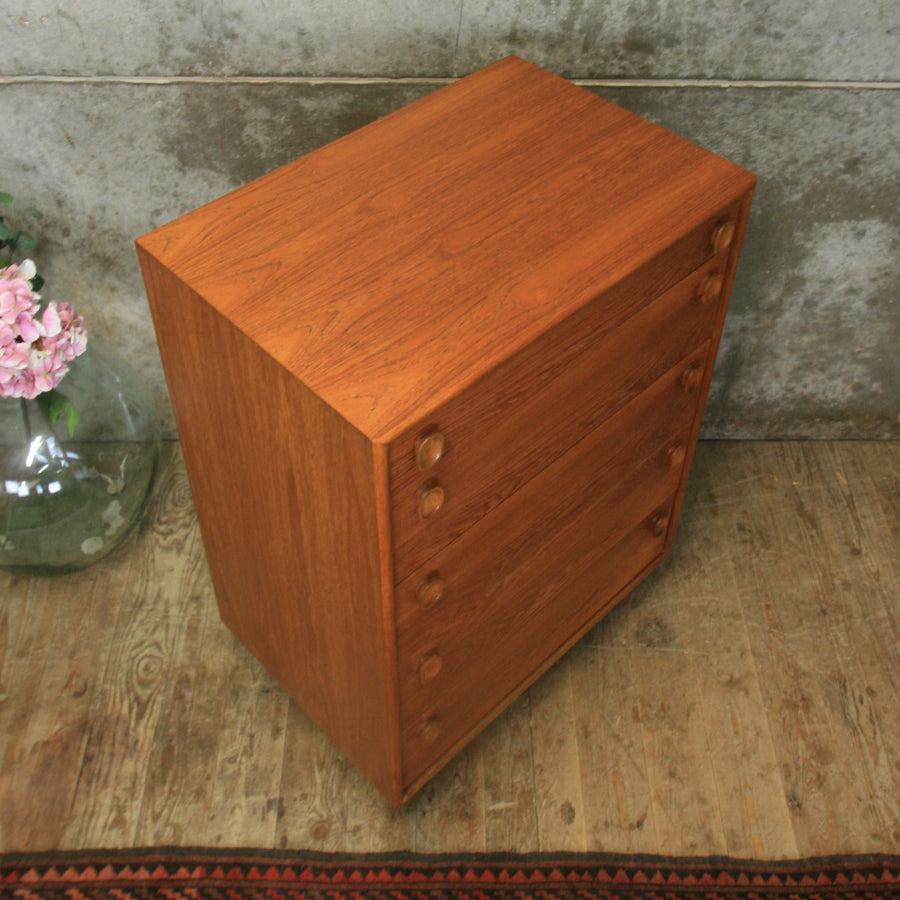 Mid Century Meredew Teak Chest of Drawers #3018