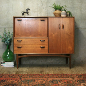 Rare G-Plan Teak Drinks Cabinet Sideboard - 1303j