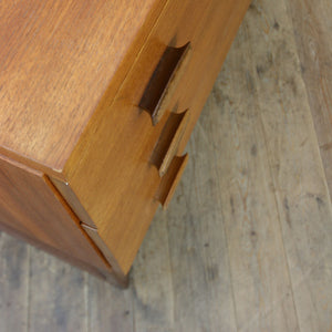 Vintage G-Plan Quadrille Teak Chest of Drawers