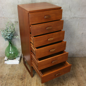 Matching Pair of G-Plan Quadrille Teak Tallboys