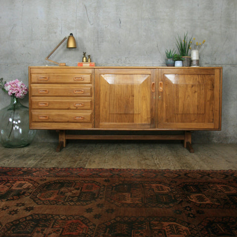 Large Mid Century Walnut Sideboard