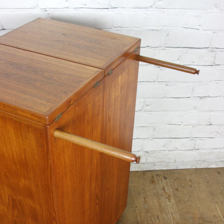 Mid Century Drylund Danish Teak Captains Bar