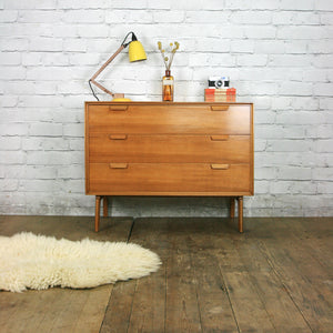Vintage Mid Century Walnut Chest of Drawers