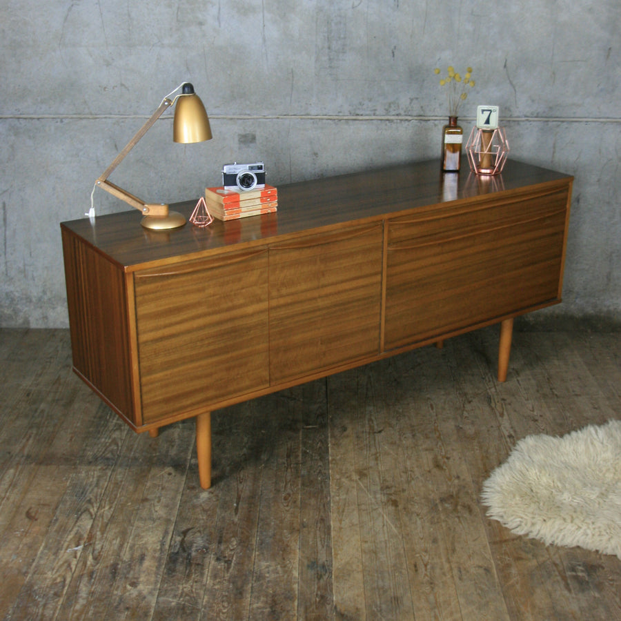 Vintage Walnut Sideboard by Morris of Glasgow
