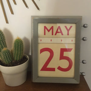1958 Vintage Post Office Perpetual Calender - Grey