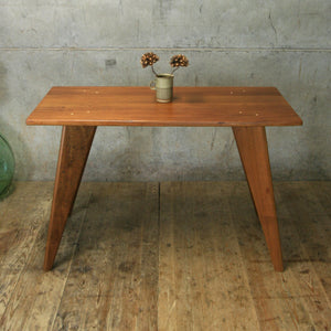 Reclaimed & Hand Crafted Iroko Desk - 120x60cm *MADE TO ORDER*