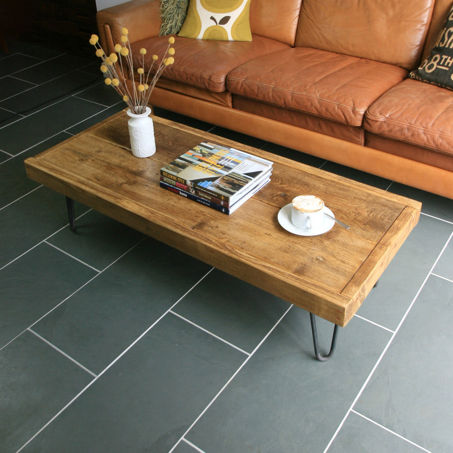 'The Hairpin' Rustic Coffee Table - MADE TO ORDER