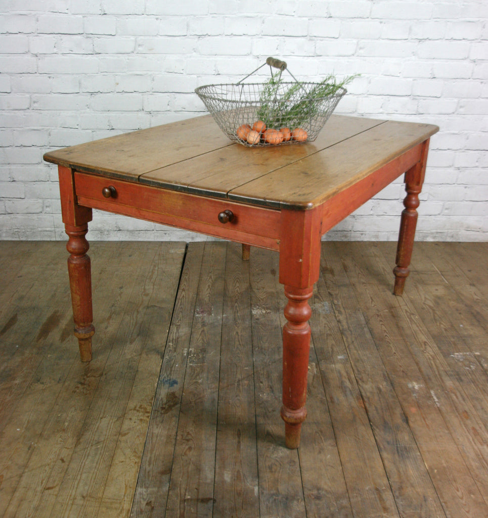 Vintage victorian rough luxe farm kitchen table