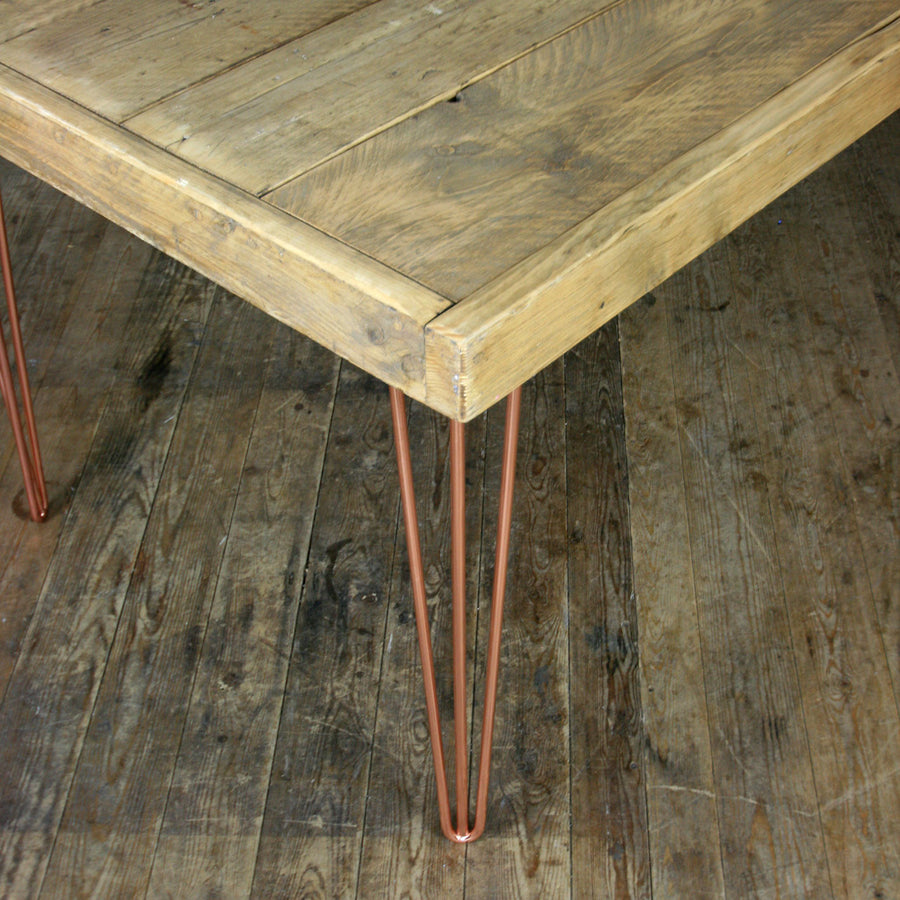 Rustic Copper Hairpin Dining Table *One in Stock*