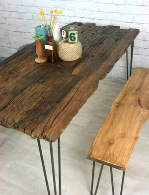 Hairpin Leg Reclaimed Barn Wood Industrial Table