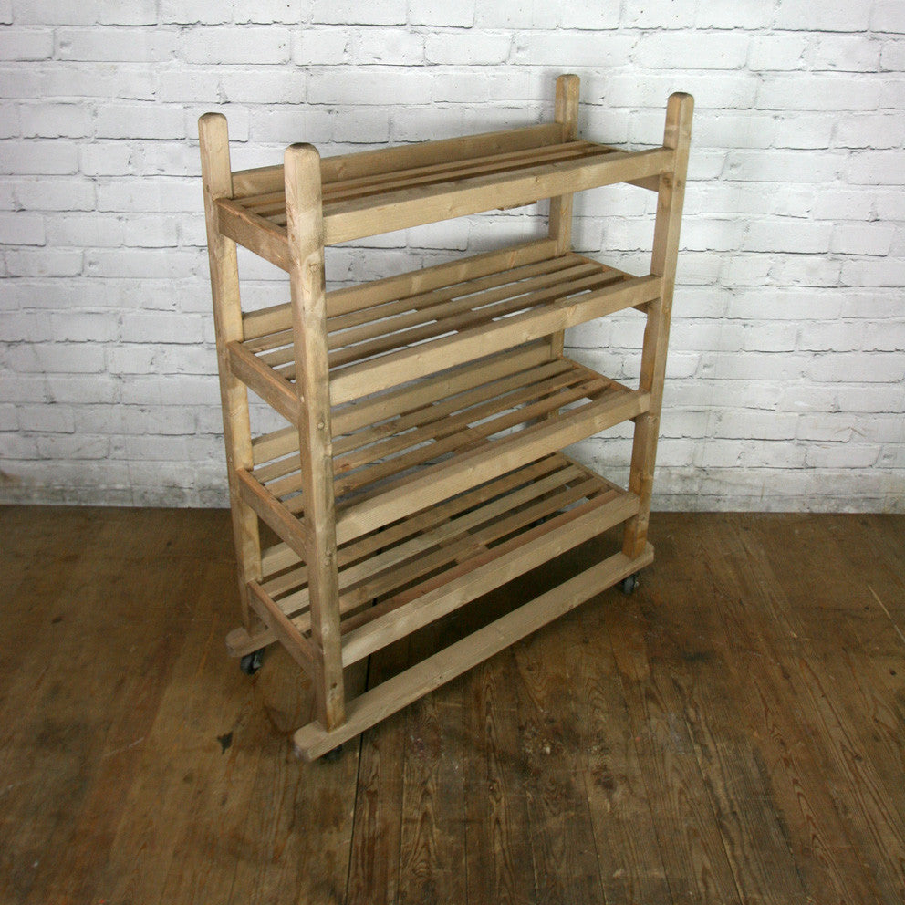 Rustic Shoe Trolley Shelving