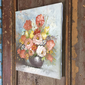 Vintage Oil Painting on Canvas 200x250mm