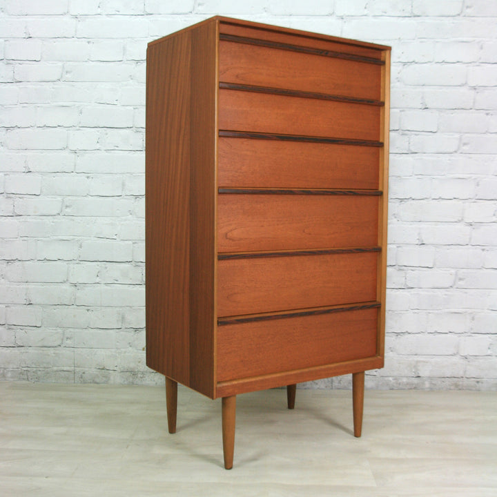 Vintage Austinsuite Teak & Rosewood Tallboy Chest of Drawers