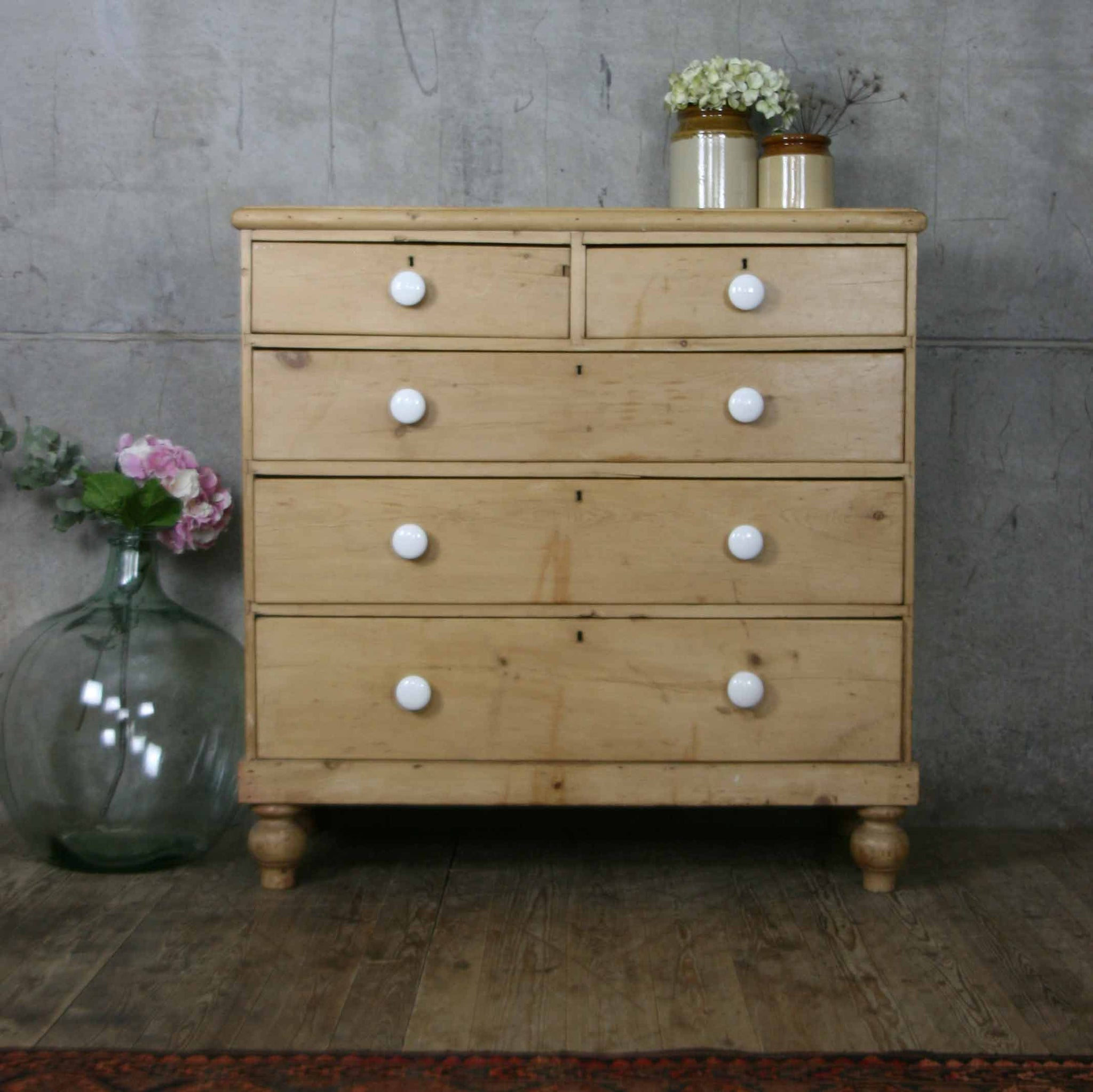 los angeles ca12c b2eb0 Large Victorian Rustic Pine Chest of Drawers – Mustard Vintage