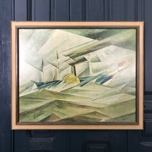 Mid Century Abstract Framed Print