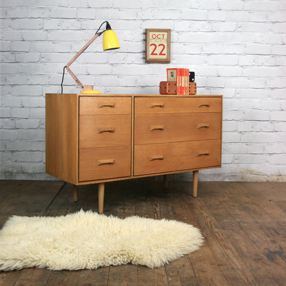 Mid Century Stag 'Concord' Oak Chest of Drawers