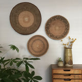 Vintage Handmade Ethnic African Basket / Natural Wall Art #10