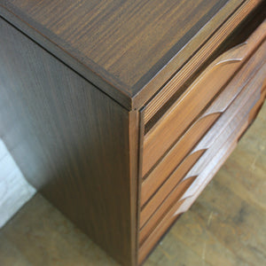 Mid Century Afromosia Tallboy Chest of Drawers