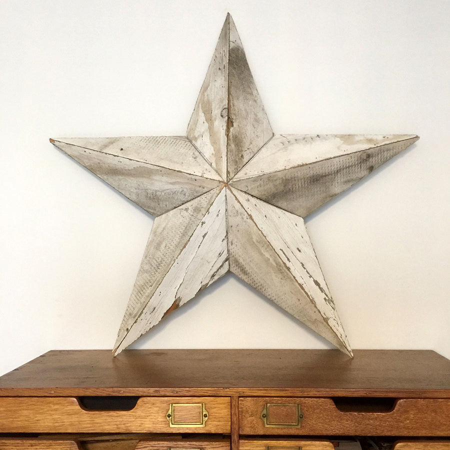reclaimed salvage barn wood amish star