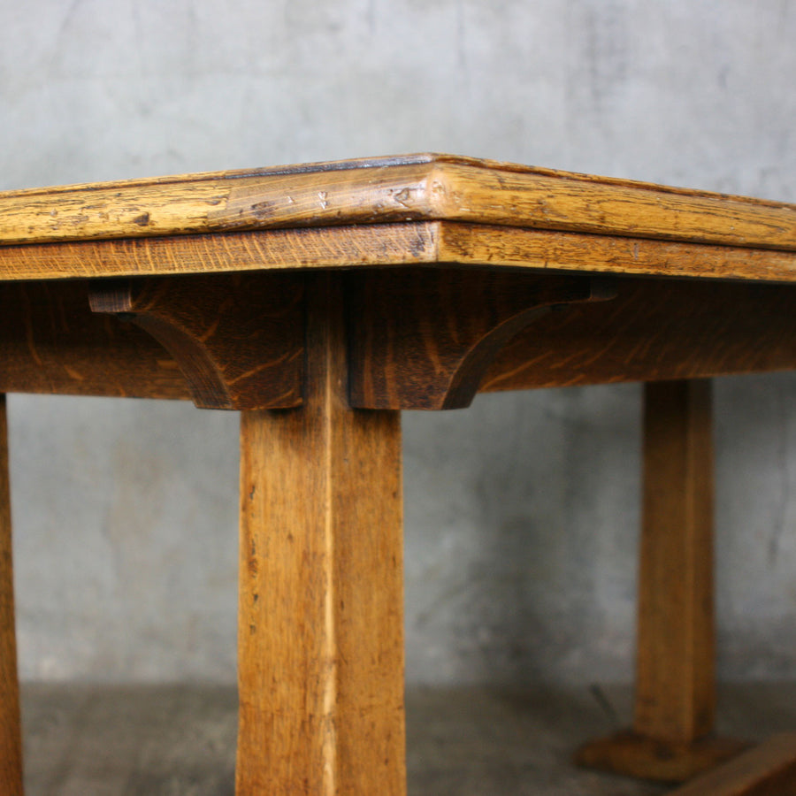 Vintage 1920'S Heals Oak Dining Table