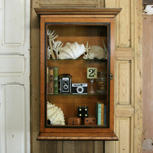 vintage_antique_oak_shop_kitchen_display_cabinet