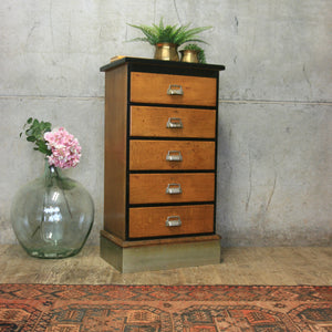 vintage_antique_oak_shop_museum_chest_of_drawers
