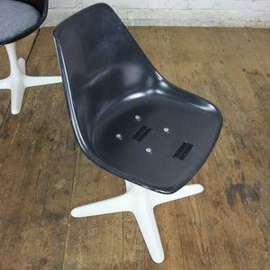 X4 Vintage Arkana Black Swivel Chairs