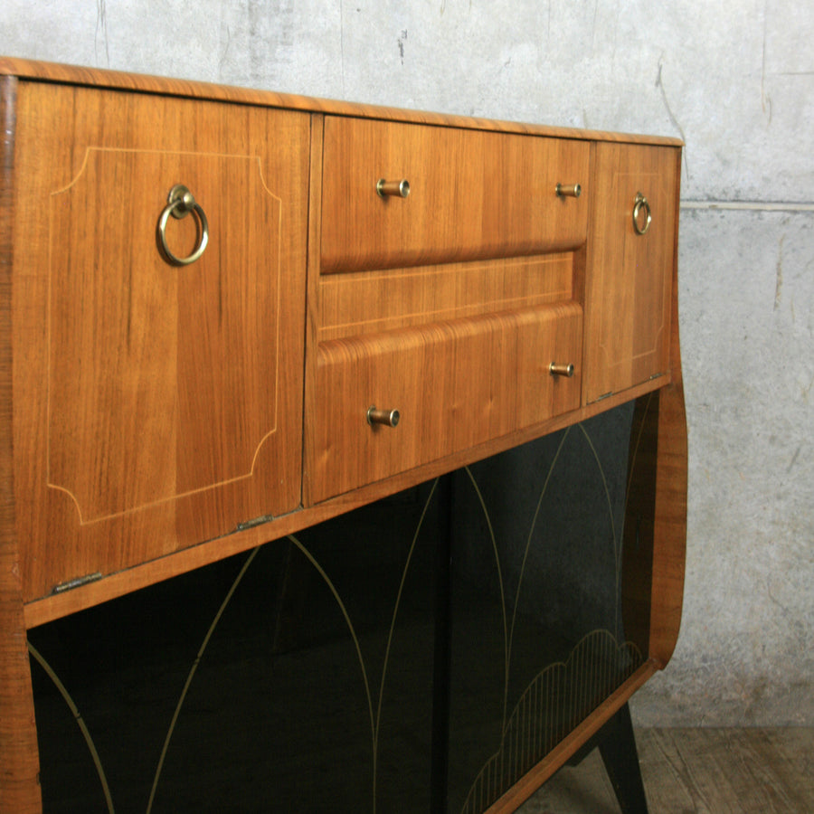 Vintage Walnut Cocktail Cabinet