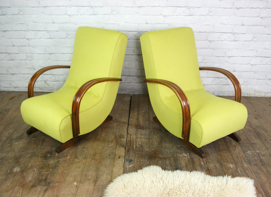Vintage Art Deco Mid Century Rocking Chair #2