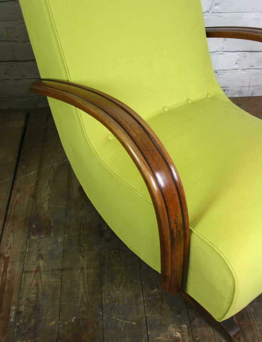 Vintage Art Deco Mid Century Rocking Chair #1