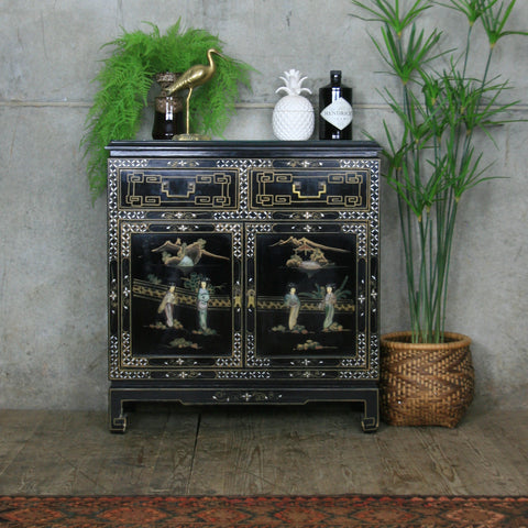 Vintage Oriental Hand Painted Cabinet / Drinks Cabinet #2