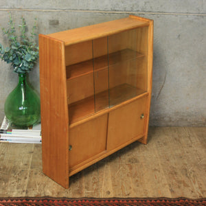 Mid Century Glazed Display Cabinet / Bookcase – 1710d