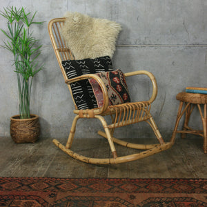 Bohemian Rattan / Bamboo Rocking Chair