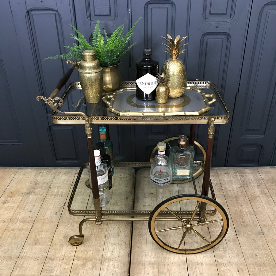 Mid Century French Drinks Trolley / Bar Cart #0518