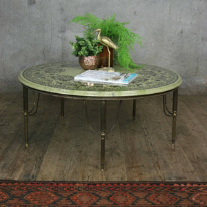 Vintage Brass & Onyx Effect Coffee Table