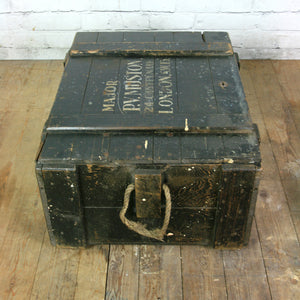 Vintage Major Royal Marines/Army Travelling Trunk