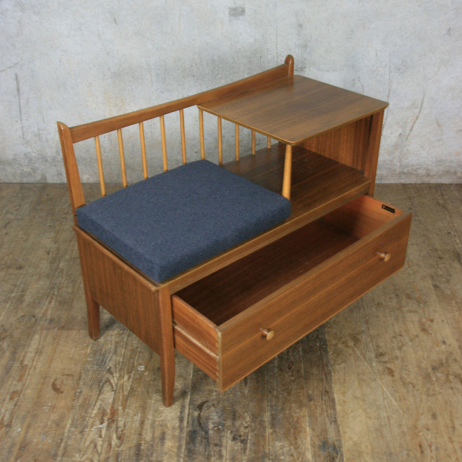 Mid Century Chippy Heath Telephone Seat