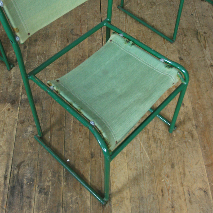 X4 Vintage Industrial Pel Stacking Chairs (set of four)