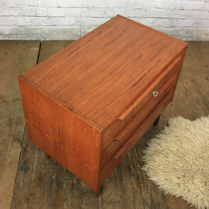 Danish Teak Chest of Drawers / Bedside Cabinet