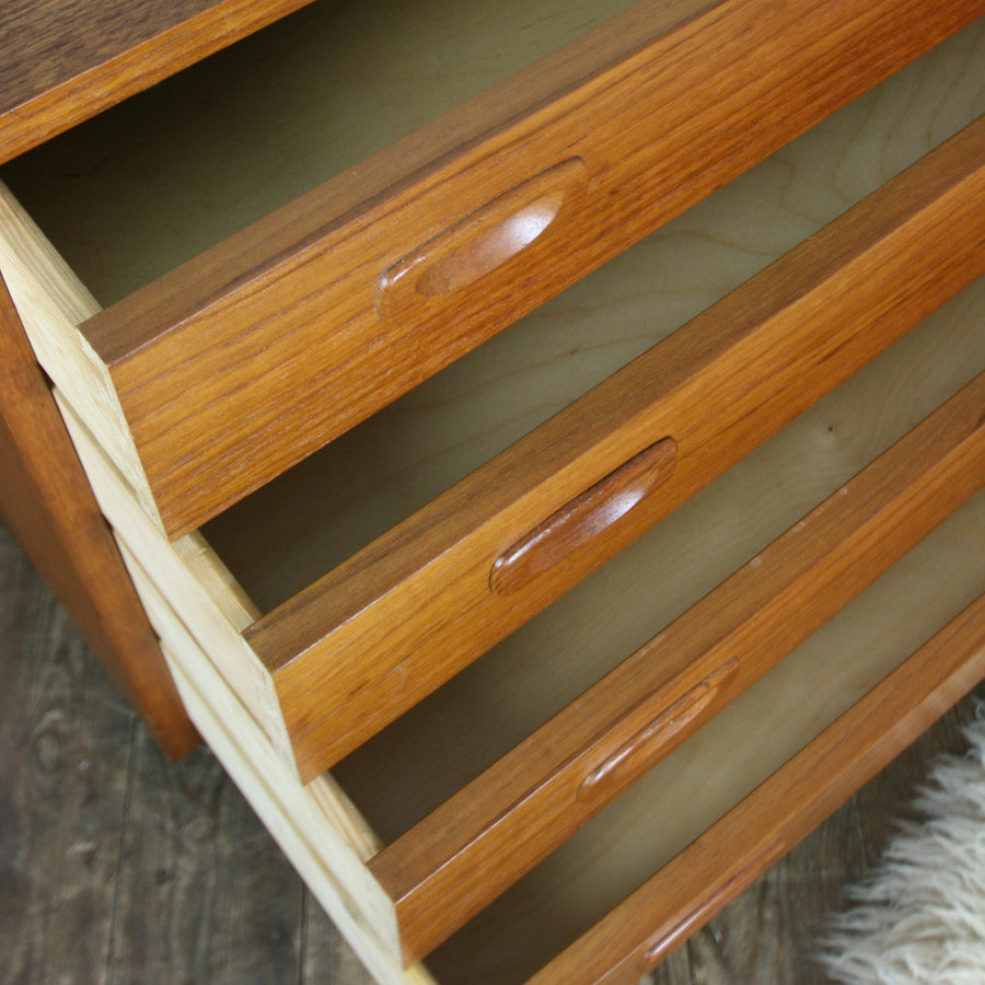 Danish Mid Century Teak Chest of Drawers #2