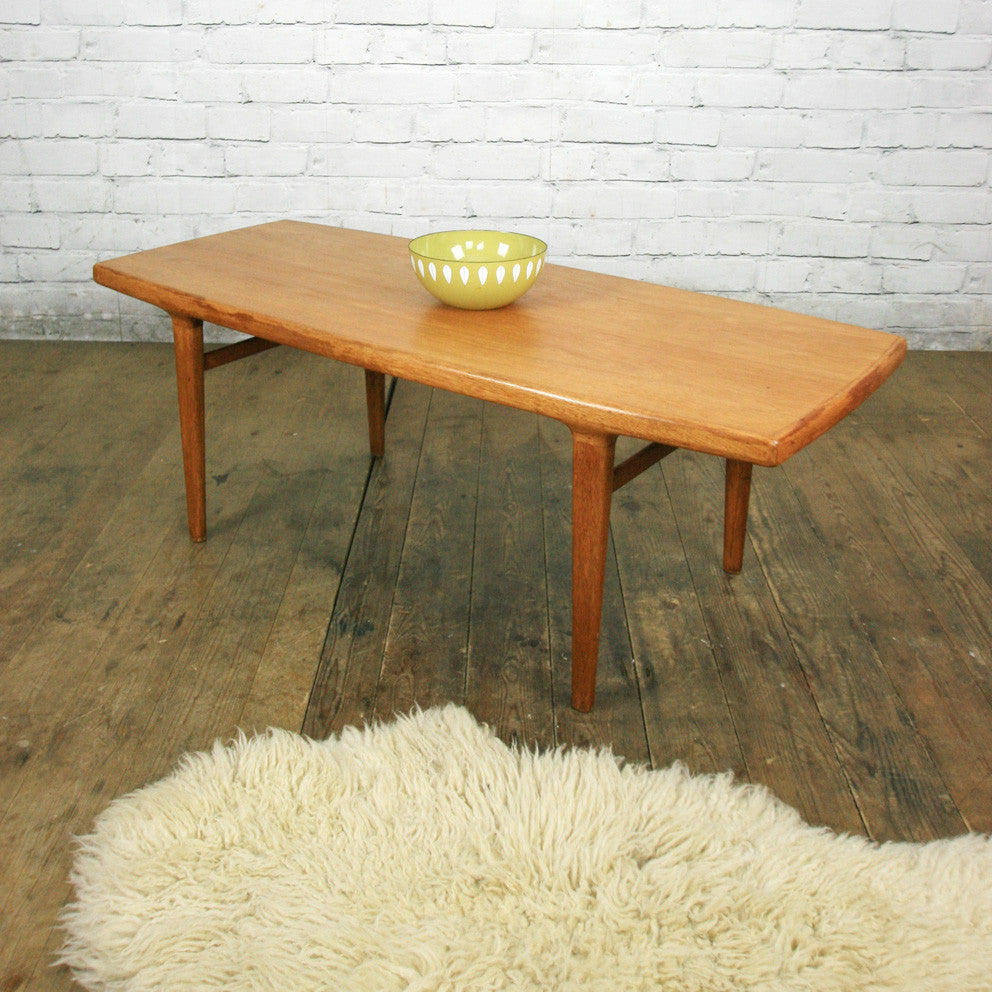 Antique Teak Coffee Table: Danish Mid Century Teak Coffee Table