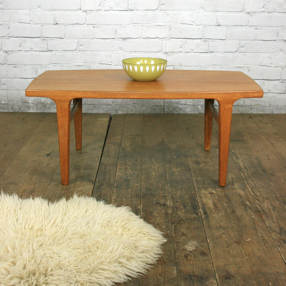 Danish mid century teak coffee table 1 small mustard vintage danish mid century teak coffee table 1 small geotapseo Image collections