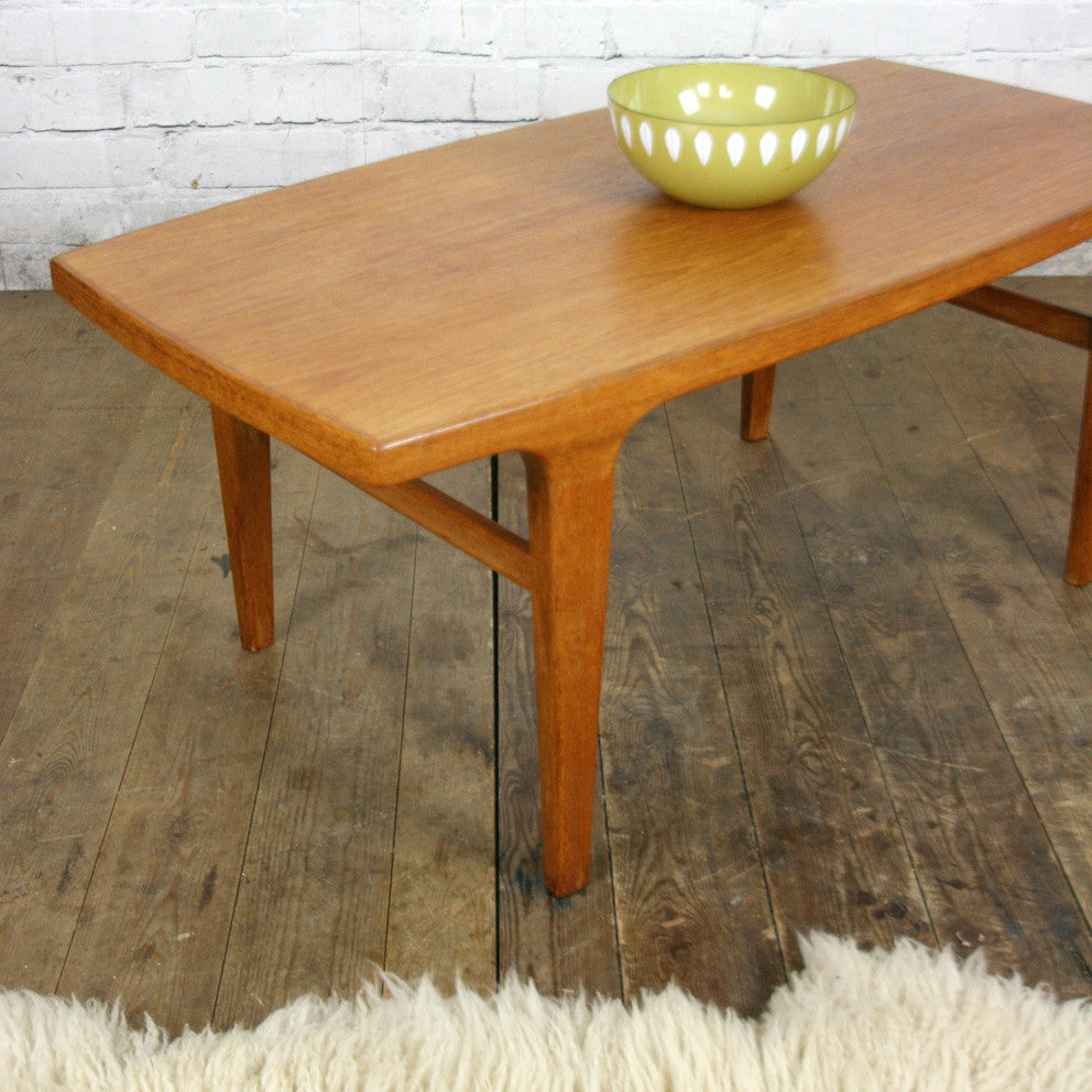 Antique Teak Coffee Table: Danish Mid Century Teak Coffee Table #1 (small)