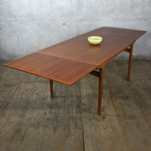 Mid Century Danish Teak Extending Dining Table